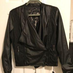 Blank NYC Spike Faux Leather Moto Jacket (NWT)